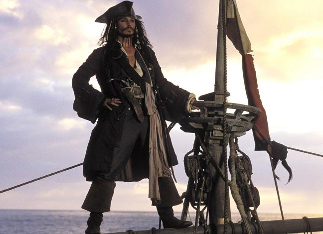 best pirate movies Pirates of the Caribbean: The Curse of the Black Pearl (2003)