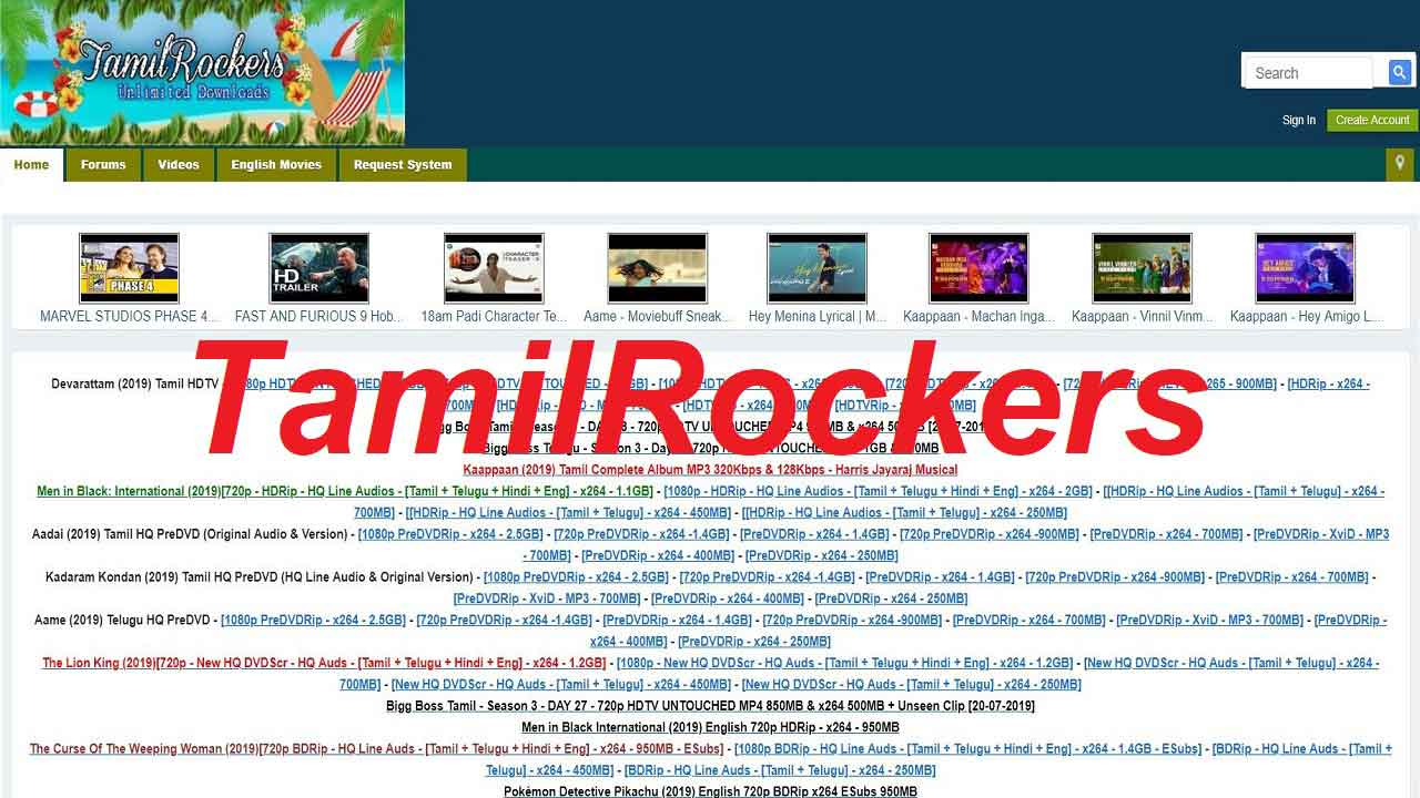 TamilRockers 2019: Tamil Rockers Latest Tamil, Telugu Movies