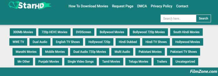 7star hd Movies Category